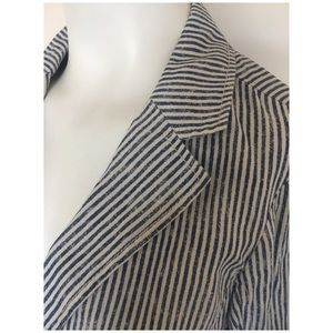 Anthropologie Jackets & Coats - Michael Stars Striped Linen Blazer Jacket Sz S